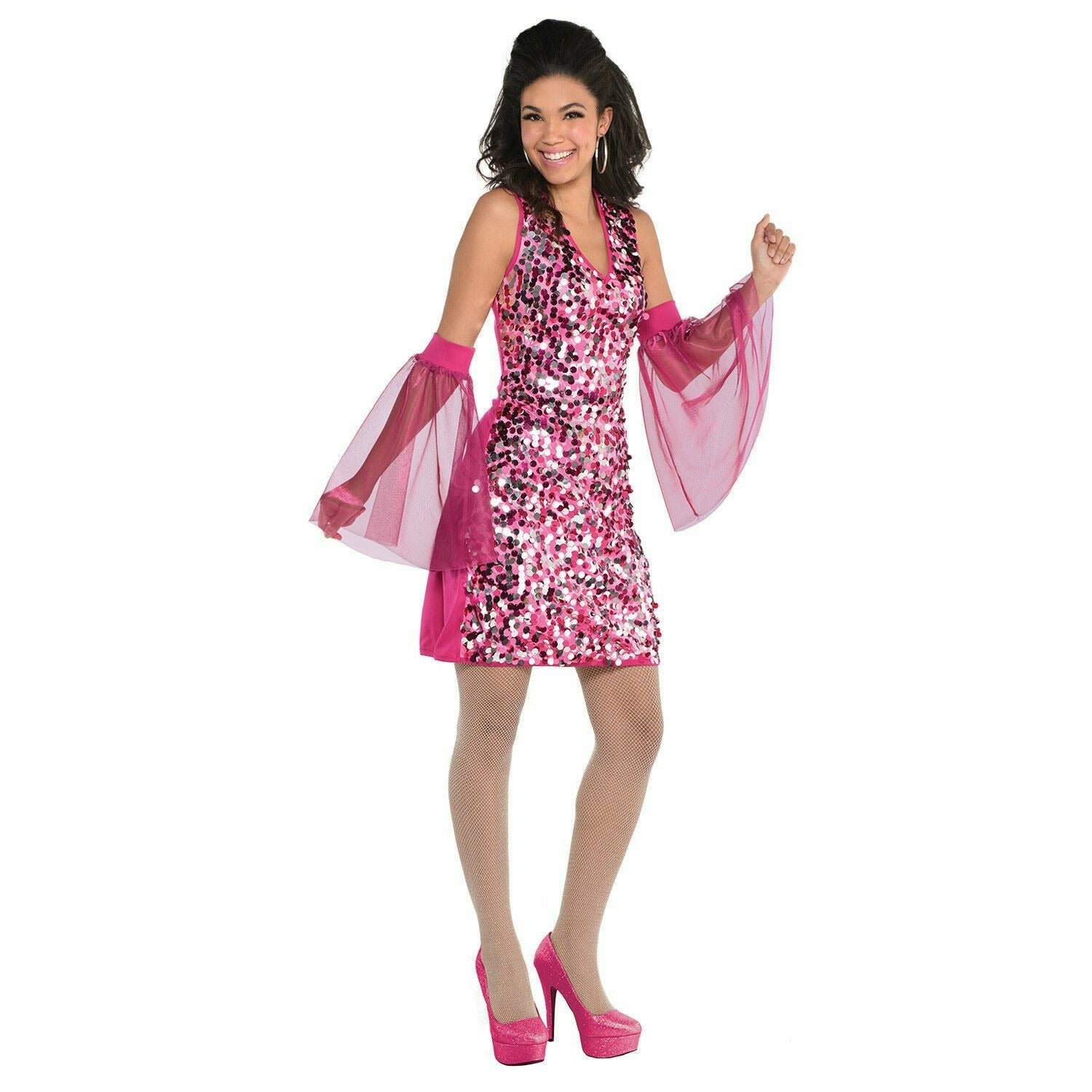 Womens 70's Disco Boogie Down Dress Costume