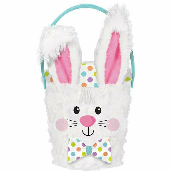 Plush Polka Dot Bunny Easter Basket