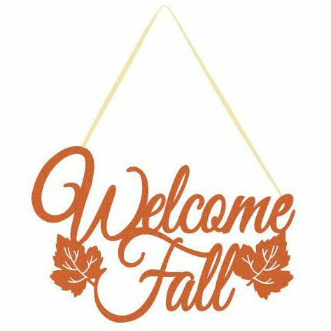 Welcome Fall Glitter Sign