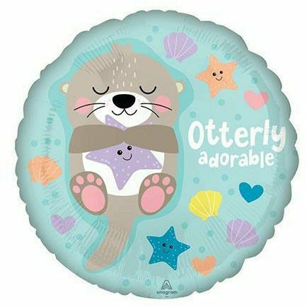 "540 Otterly Adorable 17"" Mylar Balloon"