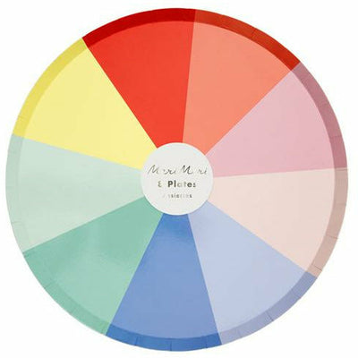 Color Wheel Dinner Plates