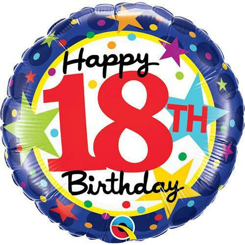 "395 Happy 18th Birthday 18"" Mylar Balloon"