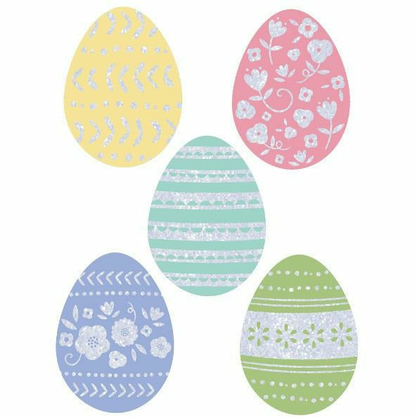 Mini Glitter Easter Egg Cutouts 50ct