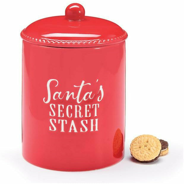 SANTA'S SECRET STASH COOKIE JAR