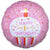"488 Pink Cupcake Happy 1st Birthday 18"" Mylar Balloon"