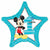 "486 Mickey Mouse 1st Birthday Star 19"" Mylar Balloon"