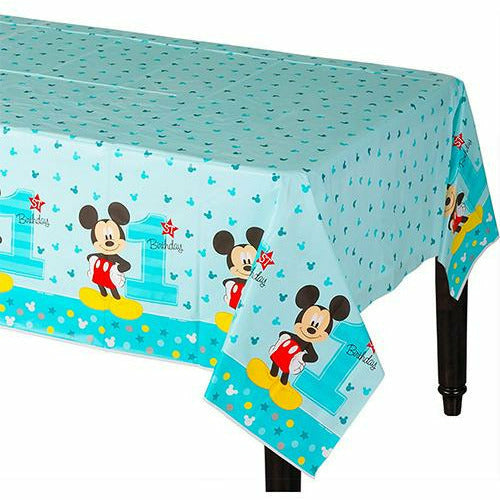 1st Birthday Mickey Mouse Table Cover