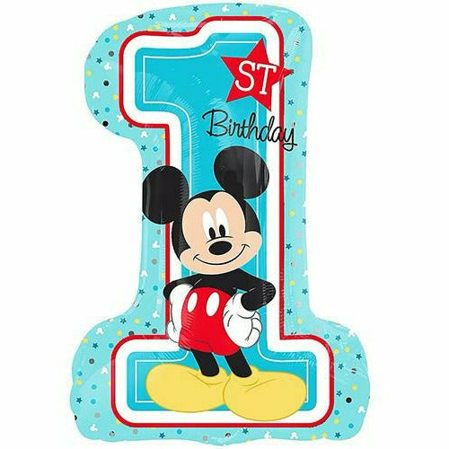 "496 Mickey Mouse 1st Birthday Jumbo 28"" Mylar Balloon"