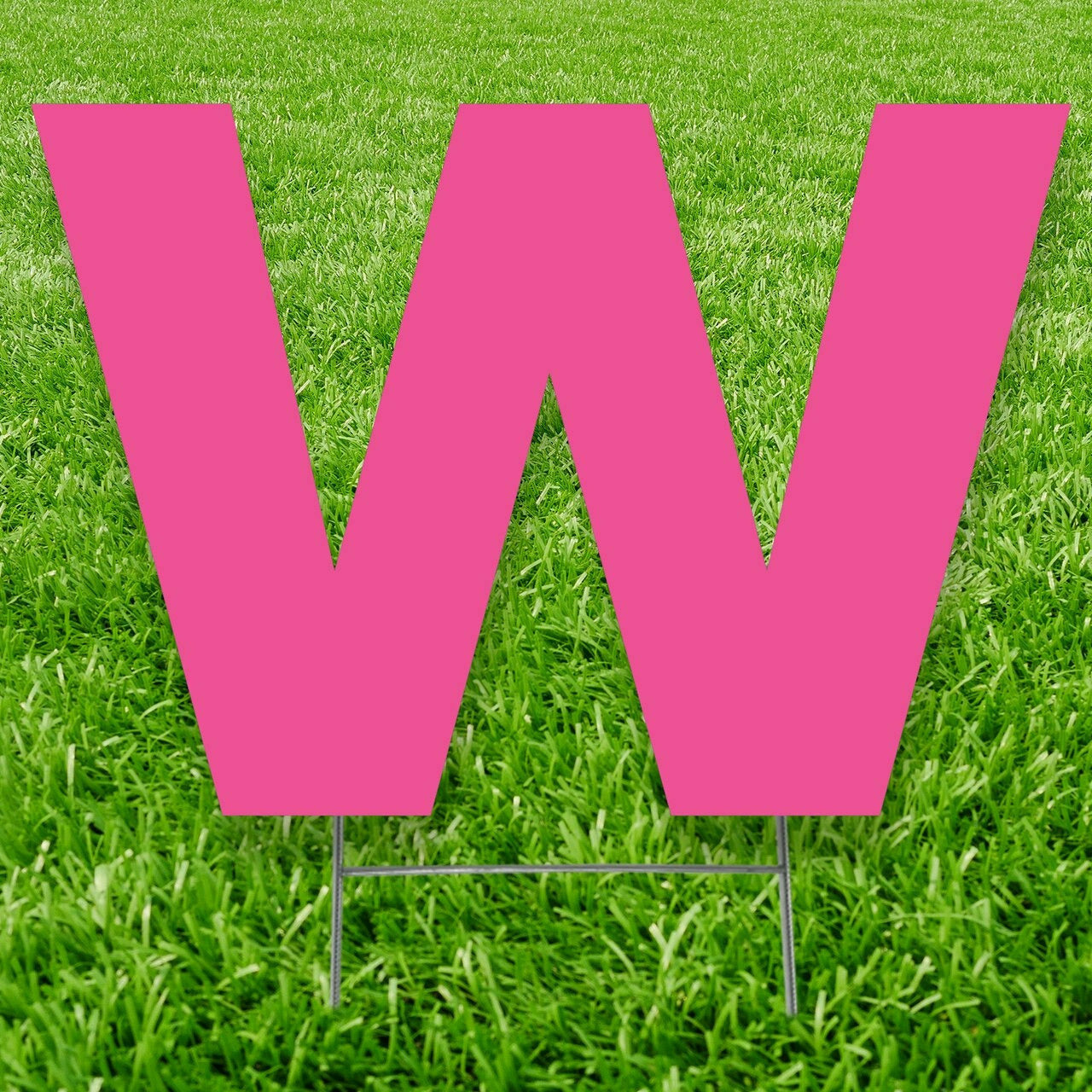 Letter W Outdoor Yard Sign