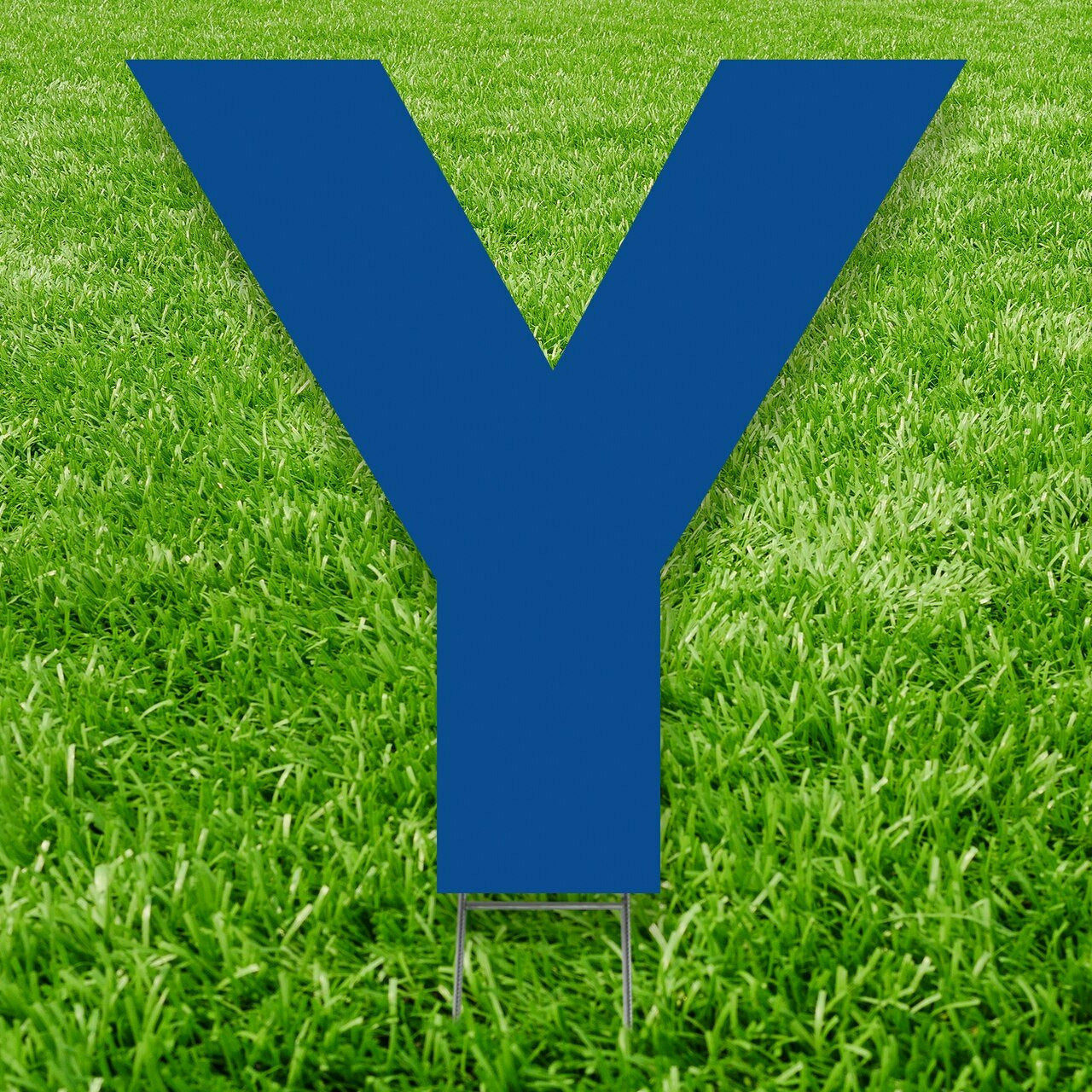 Letter Y Outdoor Yard Sign