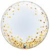 "946 Gold Confetti Dots Deco Bubble Jumbo 24"" Mylar Balloon"