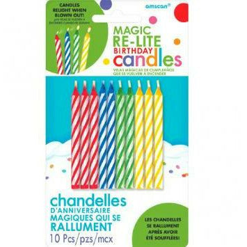 MAGIC RE-LITE CANDLES - ASST