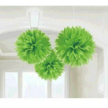 GREEN FLUFFY DECO