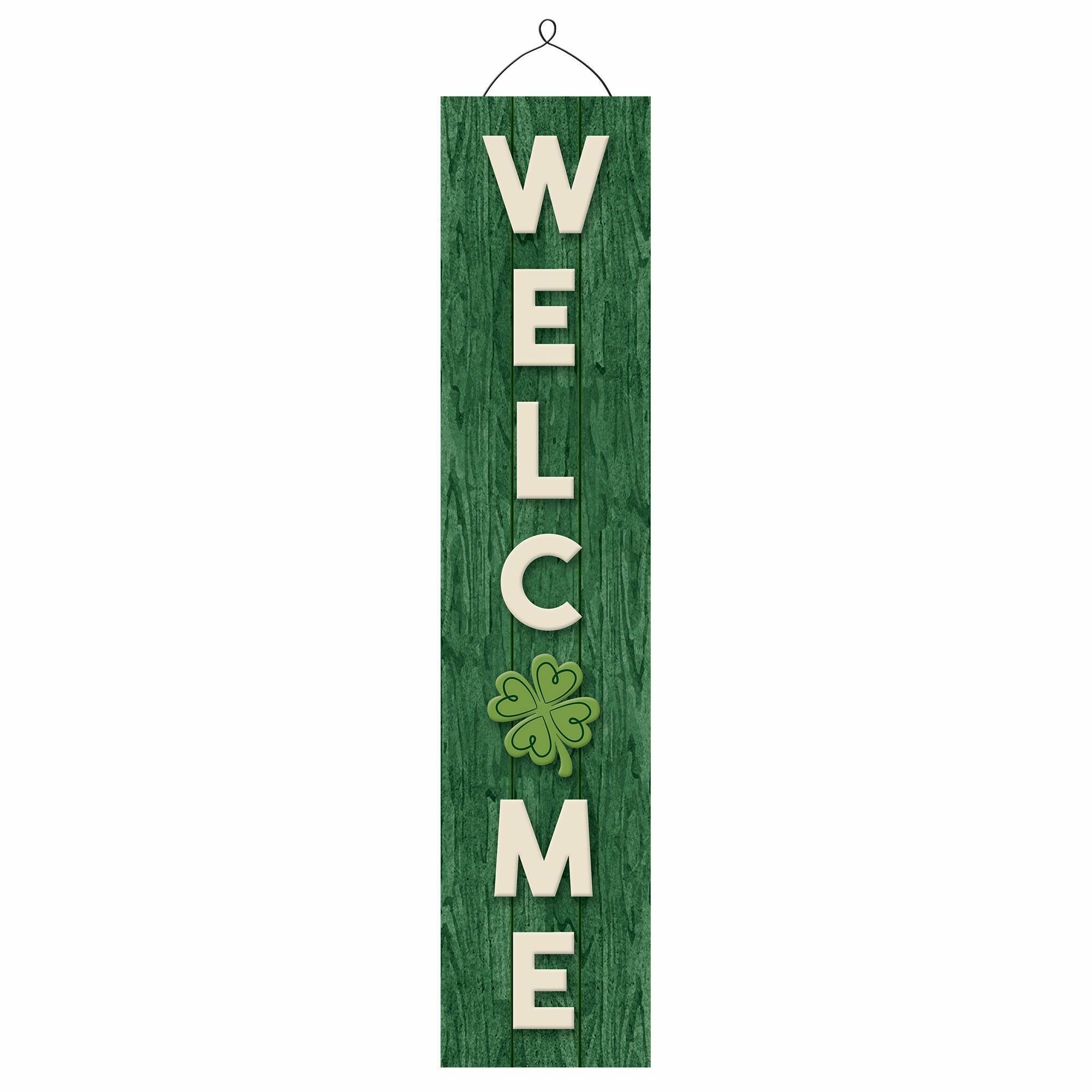 Welcome Deluxe Vertical Hanging Sign