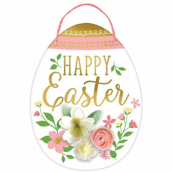 Happy Easter Egg Sign