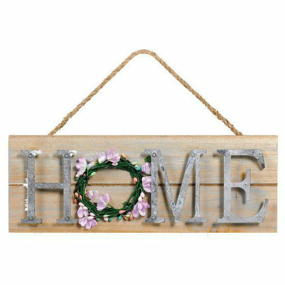 Pastel Spring Stacked Welcome Sign