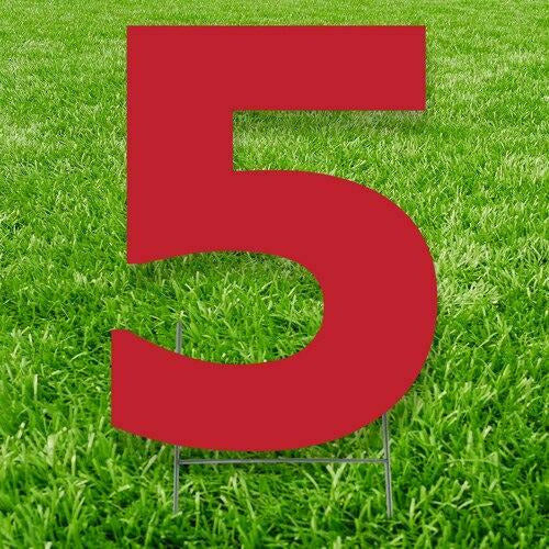 Number 5 Outdoor Yard Sign