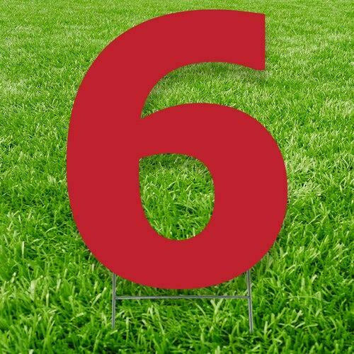 Number 6 Outdoor Yard Sign