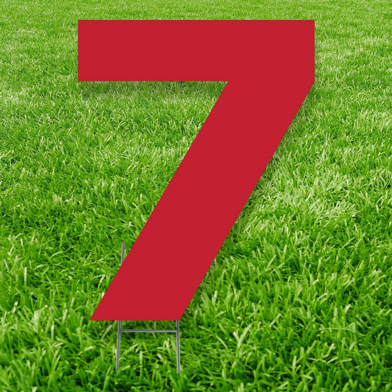 Number 7 Outdoor Yard Sign