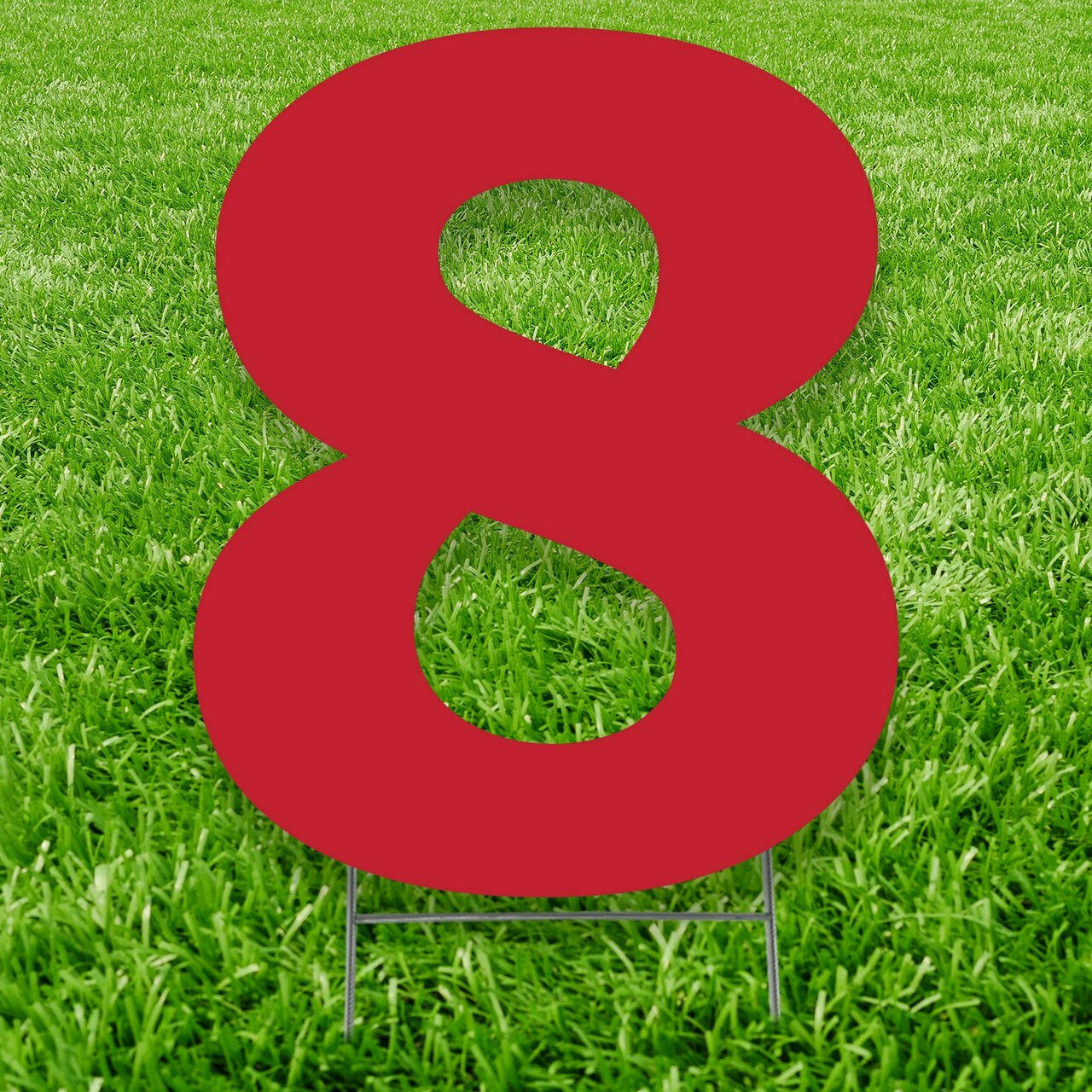 Number 8 Outdoor Yard Sign