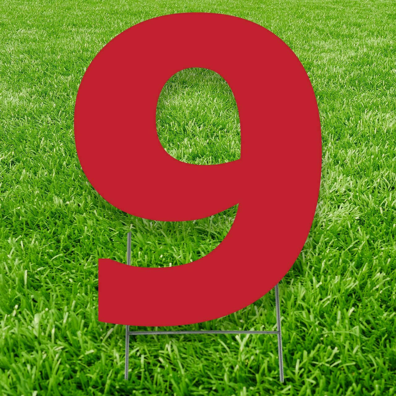 Number 9 Outdoor Yard Sign