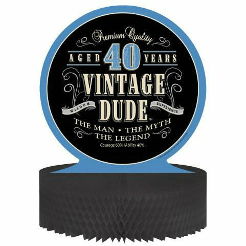 Vintage Dude 40 Honeycomb Centerpiece