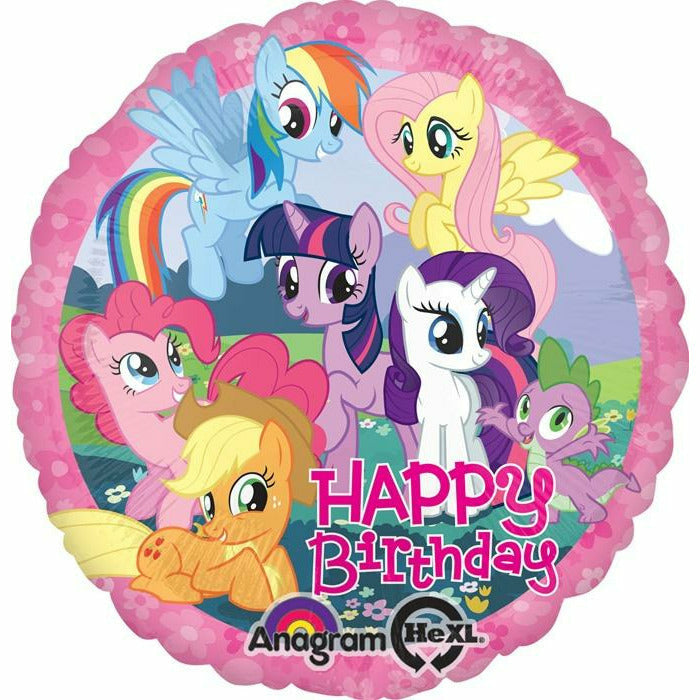 "*A004 My Little Pony Happy Birthday 17"" Mylar Balloon"