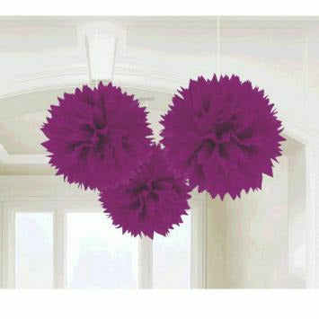 PURPLE FLUFFY DECORATIONS