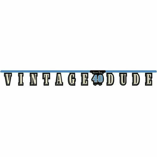 Vintage Dude 40 Jointed Banner