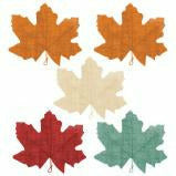 Autumn Burlap Leaves