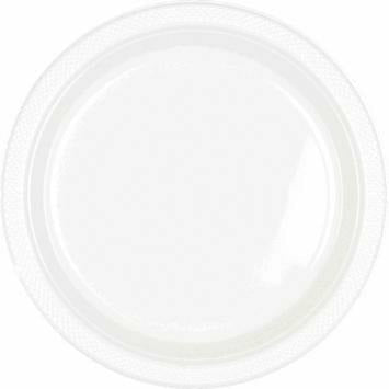"9"" PLSTC PLATE 20 CT-WHITE"