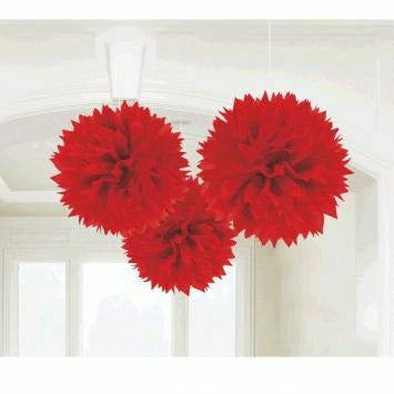 FLUFFY DECO RED 3CT