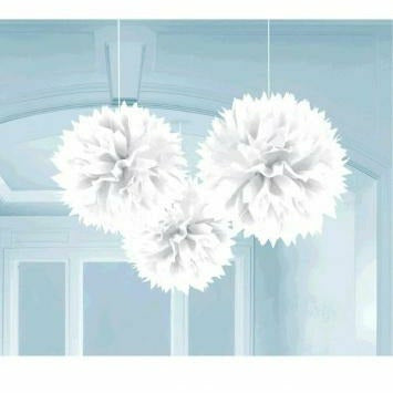 WHITE FLUFFY DECO