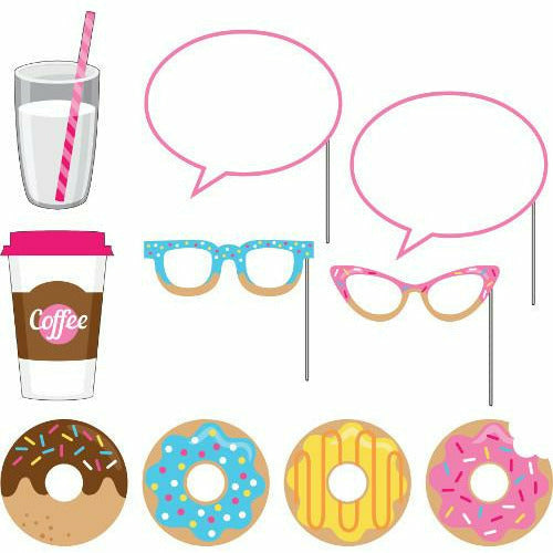 Donut Time Photo Booth Props