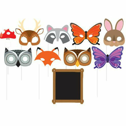 Wild One Woodland Animals Photo Booth Props