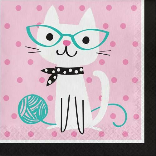 Purr-fect Party Lunch Napkins 16ct