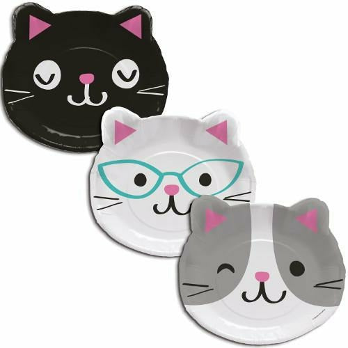 Purr-fect Party Shaped Dinner Plates 8ct