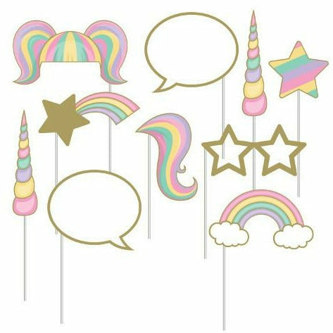 Unicorn Sparkle Photo Booth Props 10ct