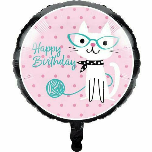 "Purr-fect Party 18"" Mylar Balloon"