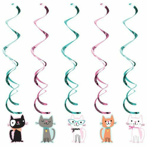 Purr-fect Party Swirl Decorations