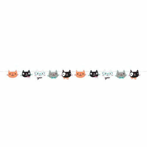 Purr-fect Party Shaped Banner