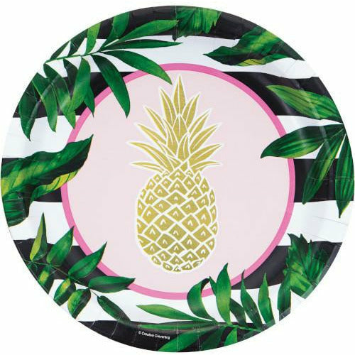 Pineapple Wedding Banquet Plates 8ct