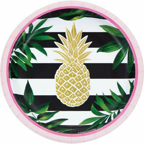 Pineapple Wedding Lunch Plates 8ct