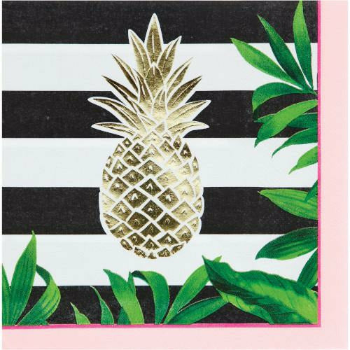 Pineapple Wedding Lunch Napkins 16ct