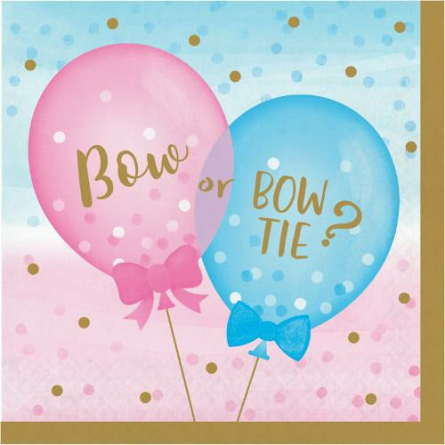 Gender Reveal Balloons Lunch Napkins 16ct