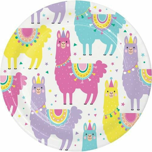 Llama Party Lunch Plates 8ct