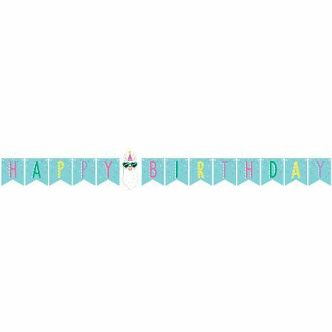 Llama Party Ribbon Banner