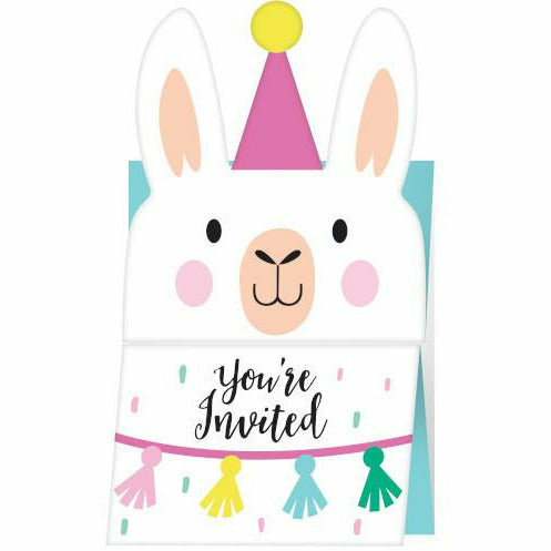 Llama Party Invitations 6ct