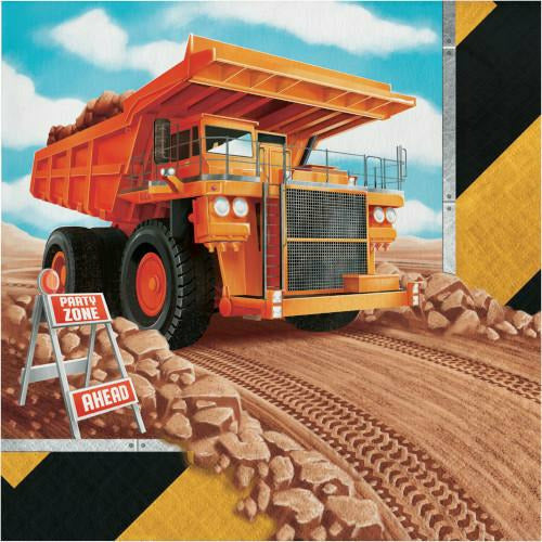 Big Dig Construction Lunch Napkins 16ct