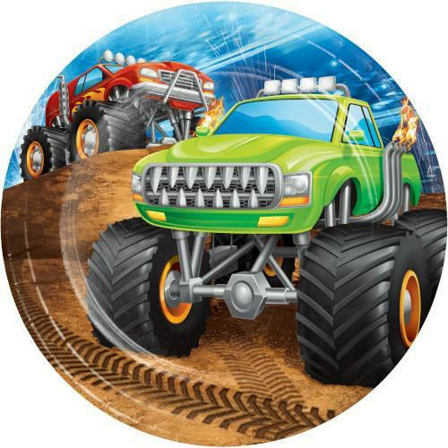 Monster Truck Rally Lunch Plates 8ct